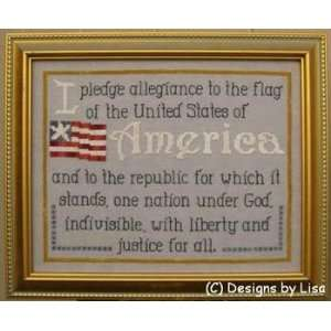 Allegiance, Cross Stitch from Designs by Lisa: Arts, Crafts & Sewing