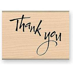 Exactly Thank You Wood Mounted Rubber Stamp