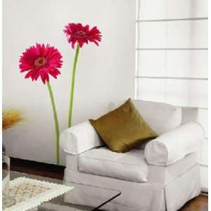 PINK GERBERA Decor Mural Sticker Wall Paper PSS 100