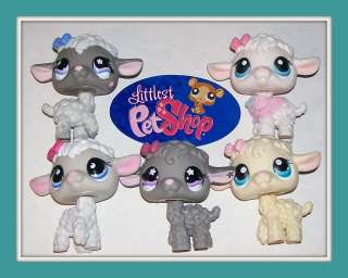 LAMB~#477 396 186 879 549 White Gray~Littlest Pet Shop Lot T10