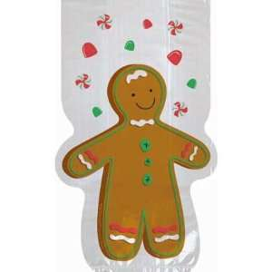 Gingerbread Man Die Cut Party Bags 20ct: Toys & Games