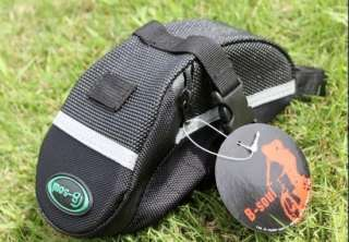 Cycling Bicycle Bike Saddle Outdoor Pouch Seat Bag Black