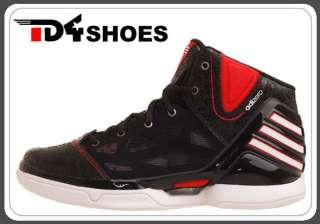 Adidas adiZero Rose 2.5 J Black Red Bulls 2012 Youth Basketball Shoes