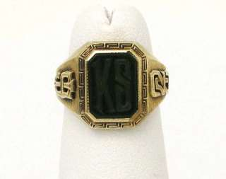 VINTAGE TIFANY & CO. 14K GOLD LADIES INITIAL BAND RING