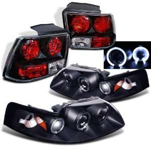 Eautolight 1999 2004 Ford Mustang Twin Halo Projector Head+tail Lights