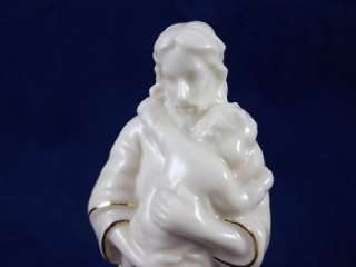 Lenox Jesus & Baby Bless This Child Figurine Ivory Fine China + 24K