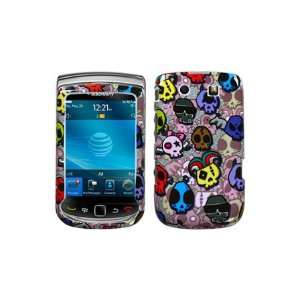 BlackBerry Torch 9800 Graphic Case   Skull Party Sparkle