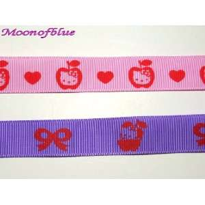 Set Of Two Hello Kitty Grosgrain Ribbon Arts, Crafts & Sewing