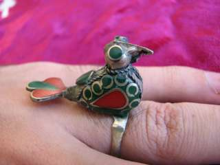 Old ISLAMIC ARABIC muslims ring hand engraved sea stone bird design