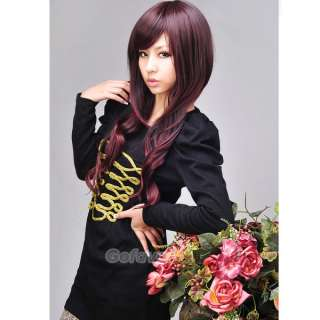 Fashion SEXY Fluffy Long Wavy/Curly Hair Wigs Side Bang Adjustable
