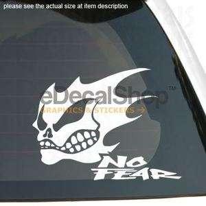 GHOST RIDER SKULL NO FEAR Vinyl Sticker Car Boat Decal
