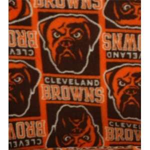 NFL Cleveland Browns Football Fleece Fabric Print By the Yard