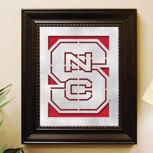 North Carolina State Wolfpack Framed Laser Cut Logo Wall