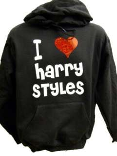 Harry Styles black Hoodie Red heart One Direction 5 15