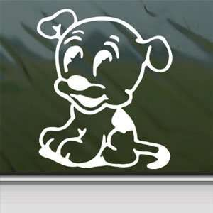 Betty Boop White Sticker Pudgy Dog Car Vinyl Window Laptop