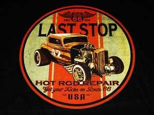 RAT ROD DUECE COUPE VINTAGE LOOK LAST STOP T SHIRT