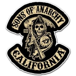 SONS OF ANARCHY MOTORCYCLE GANG LOGO DECAL BUMPER STICKER