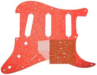 Pickguard 4 Fender Stratocaster Guitar Textured Orange