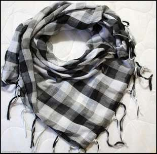 NEW special offer:Man/Woman scarf attire:10 colour COTTON grid