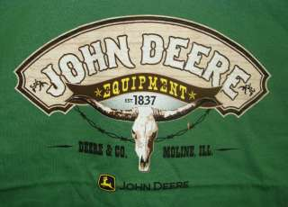 Mens Green John Deere Longhorn T Shirt