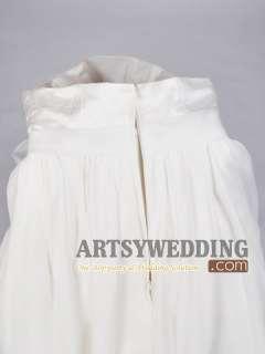 Chiffon Empire Bridal Gown Wedding Dress Custom Size 2 4 6 8 10 12 14