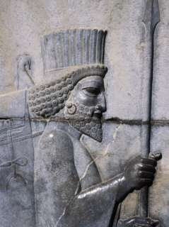 of the Medes on Apadana Staircase, Persepolis (Takht E Jamshid), Iran