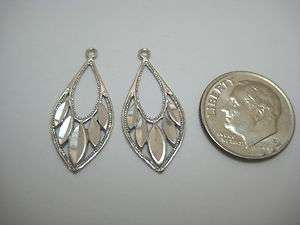 NEW SOLID 14K WHITE GOLD DANGLE EARRING JACKETS # 600