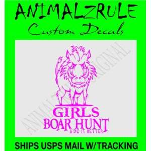 GIRL BOAR HUNTING DECAL: Everything Else
