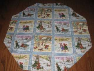 Handmade Table Runner Topper Christmas children deer