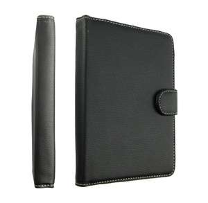 For  Kindle 4 4th PU Leather Folio WIFI Cover Case Pouch Black