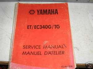 1983 ET340 EC340 Factory Service / Repair Manual