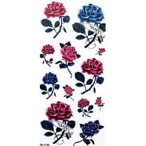 YiMei Beautiful and charming waterproof tattoo sticker color flowers