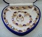 Emerald Necklace Bracelet Earring Ring, New Lovely pink freshwater