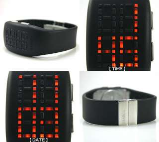 NEW PHILIPPE STARCK BY FOSSIL BLACK WATCH ORANGE LIGHT PH1055