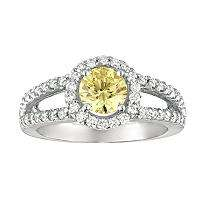 50 ct. t.w. Round Cut Fancy Yellow Diamond Ring