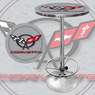 Corvette C5 Pub Table Bar Game Room Table   Silver 844296020225