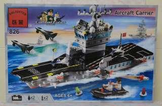 Enlighten Blocks Toy   Combat Zones Series   Aircraft Carrier