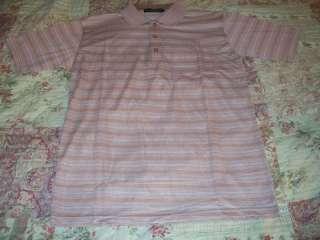 NWOT BY JOSEPH mauve striped polo golf shirt SMALL S
