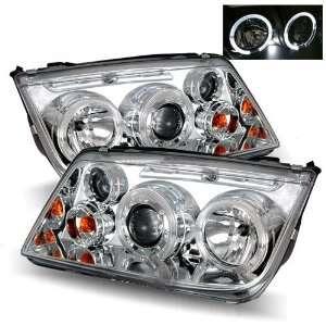 05 Volkswagen Jetta Chrome LED Halo Projector Headlights Automotive