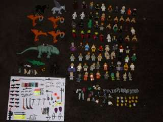 LEGO STAR WARS HUGE 70 MINIFIGURE, RARE PIECES, AND WEAPONS LOT AND