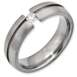 10 Carat Diamond 14k White Gold Wedding Ring