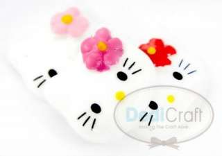 22 HELLO KITTY FLOWER RESIN FLATBACK SCRAPBOOKING B0488