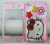 HELLO KITTY CAT skin Rhinestone handicraft FULL Case fit Apple iPod