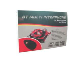 Bluetooth Motorcycle Helmet Headset Intercom FM 500