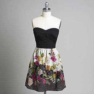 Strapless Floral Print Dress  Trixxi Clothing Juniors Dresses
