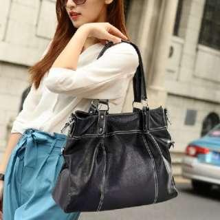 100% Genuine Leather Real Leather Tote Shoulder Bag Purse Hobo Handbag