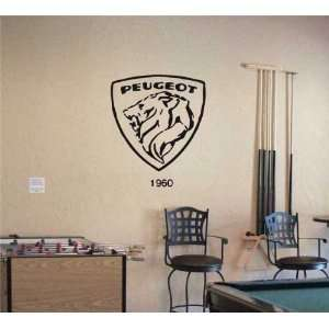 GARAGE WALL PEUGEOT 1960 LOGO DECAL STICKER ART 09 Home