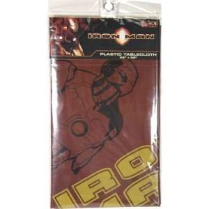 Iron Man Plastic Party Tablecloth