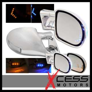 82 93 CHEVY S10 TRUCK M3 CHROME LED SIDE MIRRORS POWER
