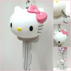 SANRIO Hello Kitty Head PVC Key Holder Key Chain Car Key Ring